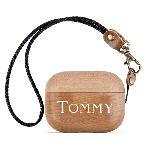 Personalized Expressiffy wooden airpod case