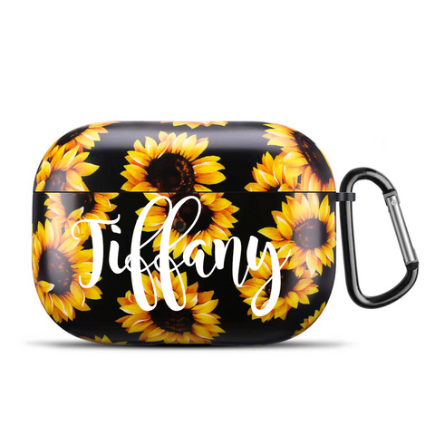 Personalized floral limited edition airpod case