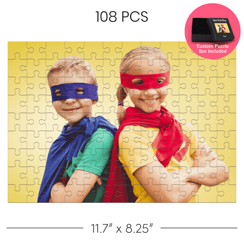 Customized Jigsaw puzzle picture of a boy and a girl