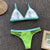 Triangle Green Bikini Set