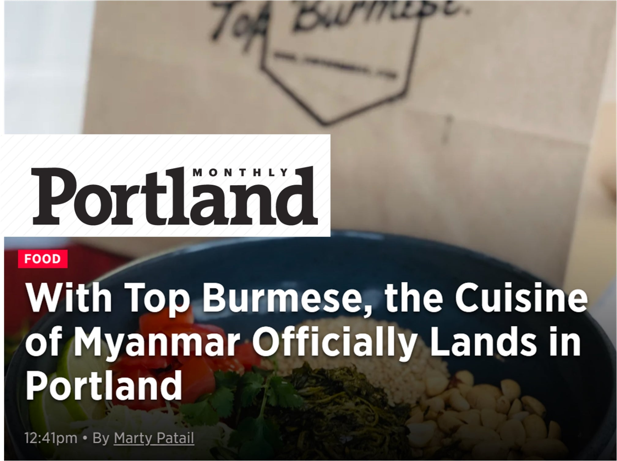 Top Burmese Best Burmese Food Portland Oregon Myanmar Cuisine Virtual Delivery Pickup Travel Portland Tea Leaf Salad