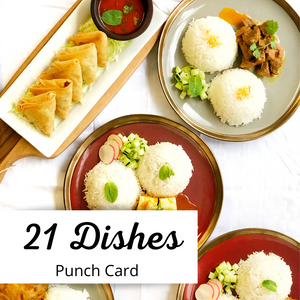 21 Dishes Punch Card
