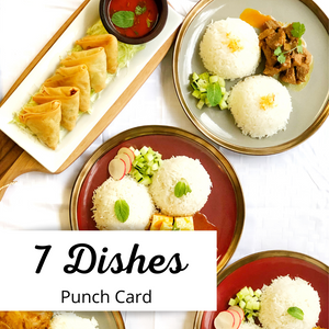 7 Dishes Punch Card