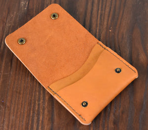 Golden (Horween Ball Glove Leather) Snap Wallet