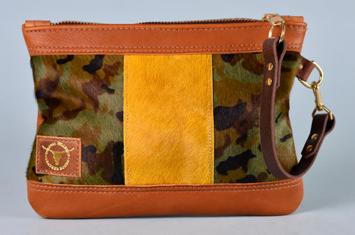 Camo/Golden Mix Vacation Wristlet