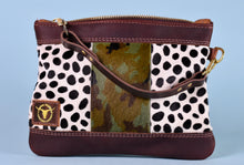 Spotted Fur/ Camo Fur Mix, Vacation Wristlet