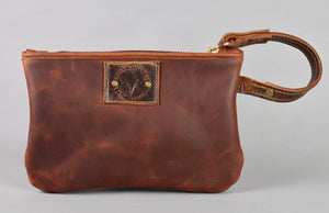 Worn Saddle Vacation Wristlet (small)