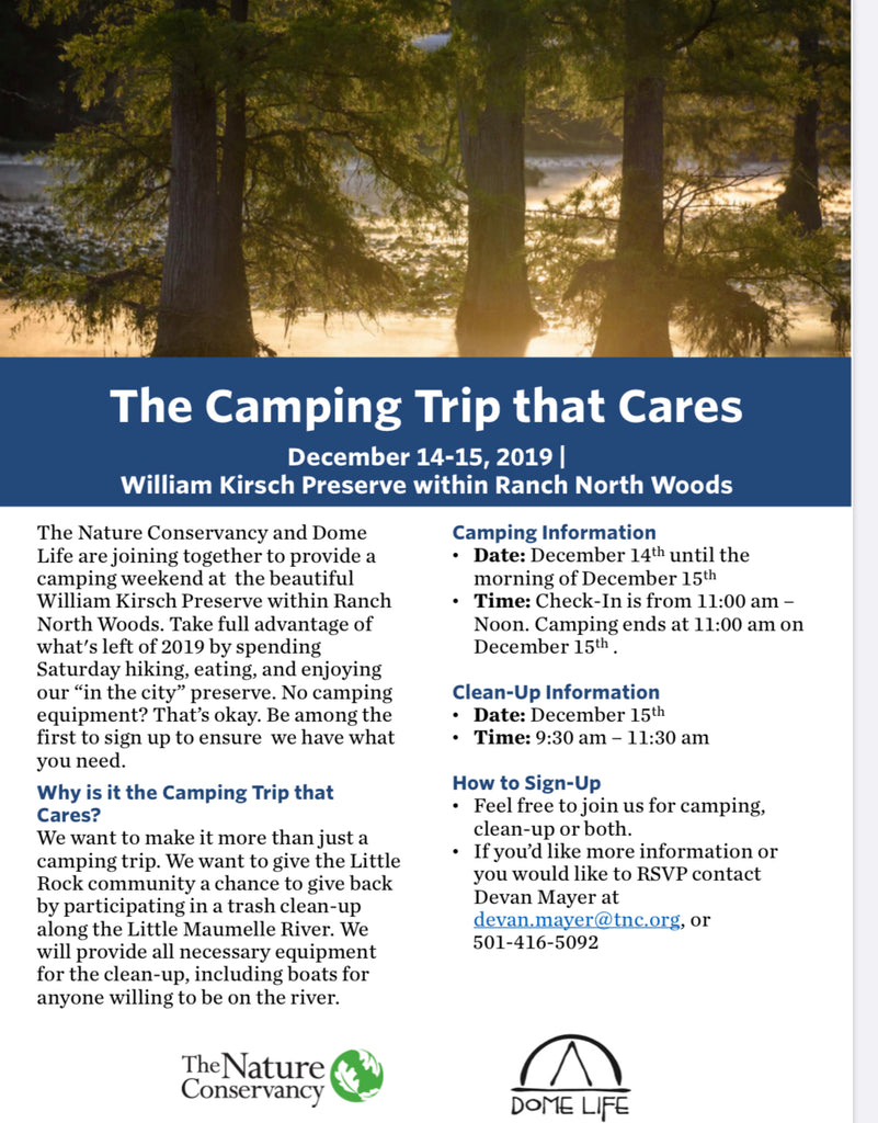 The Camping Trip that Cares on Dec 14-15
