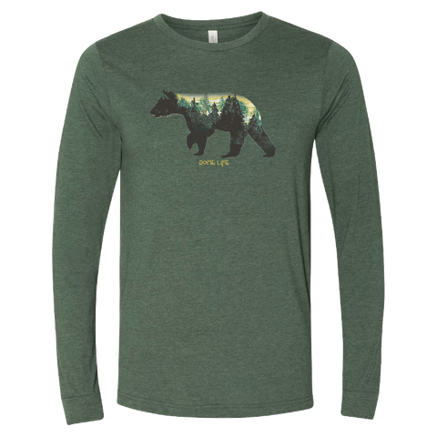 Long Sleeve Forest Green Bear Tee