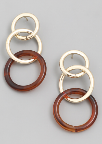 Circle Link Drop Earrings - Alpha & Omega Boutique