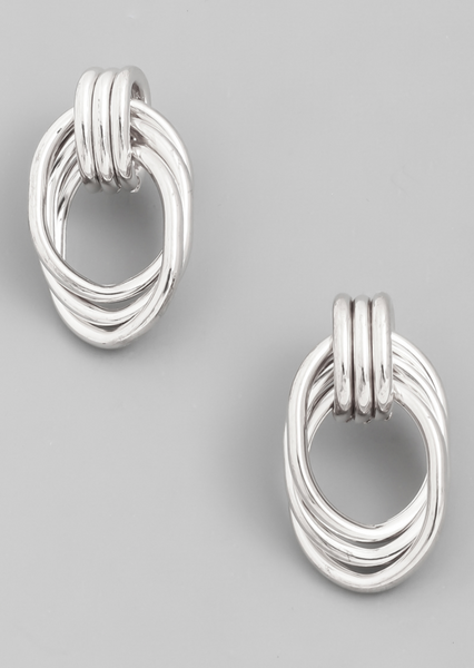 Oval Link Stud Earrings - Alpha & Omega Boutique