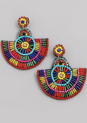 Boho Beaded Drop Earrings - Alpha & Omega Boutique