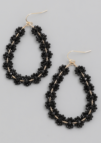Flower Bead Teardrop Earrings - Alpha & Omega Boutique