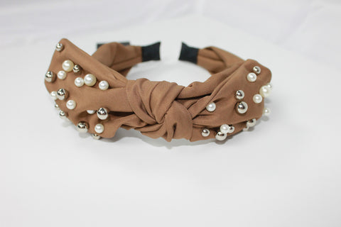 Pearl Bow Headband - Alpha & Omega Boutique