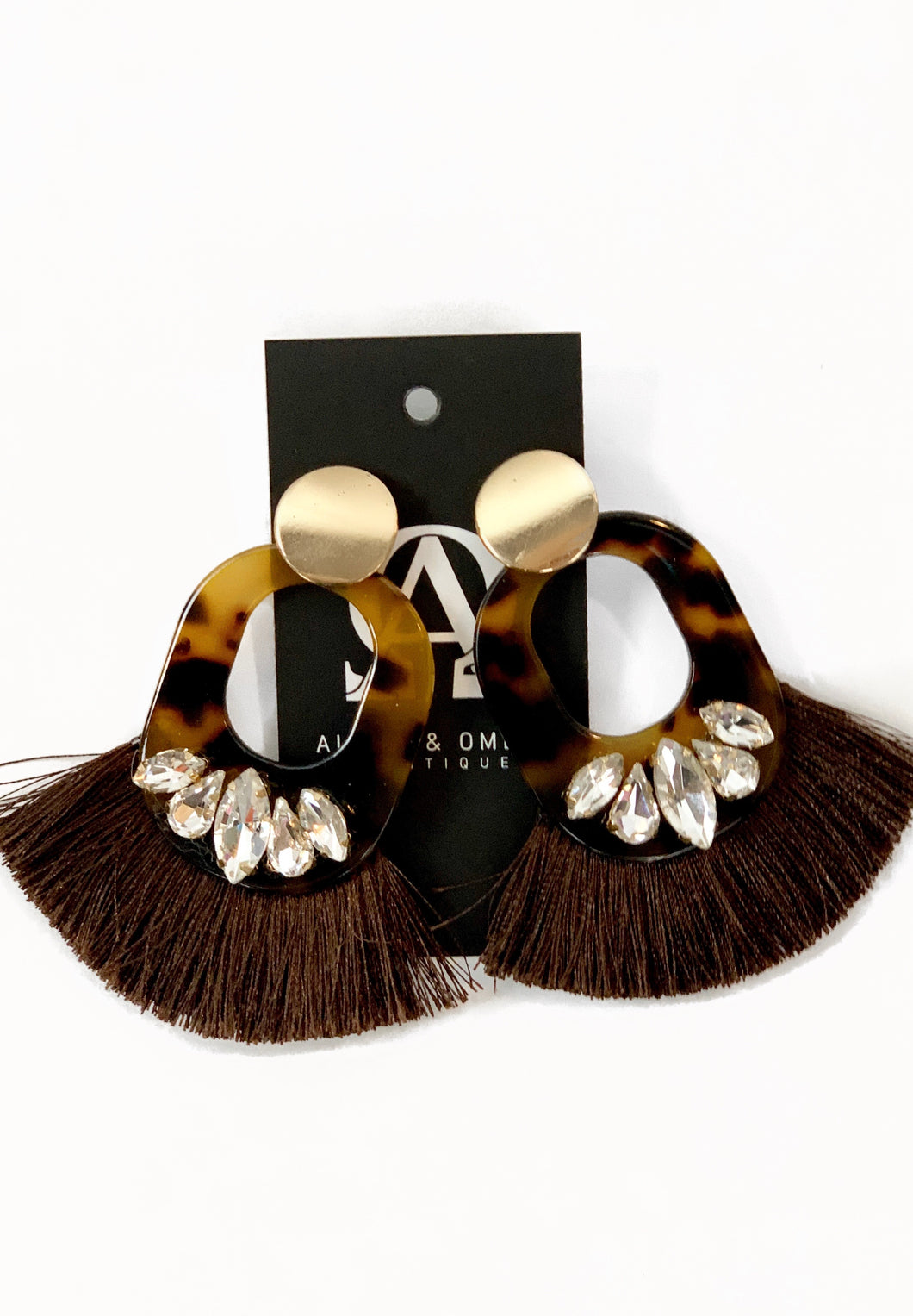 Gem Tassel Earrings - Alpha & Omega Boutique