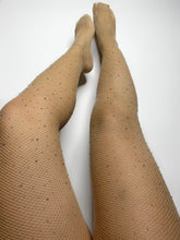 Load image into Gallery viewer, Fishnet Diamond Stockings (Nude)