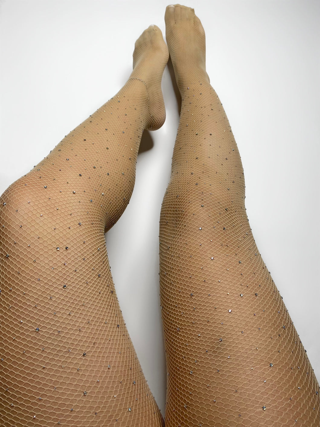 Fishnet Diamond Stockings (Nude)
