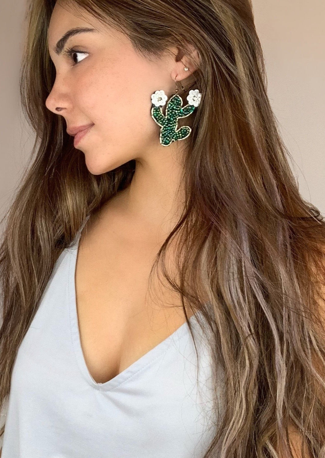 Iridescent Cactus Earrings