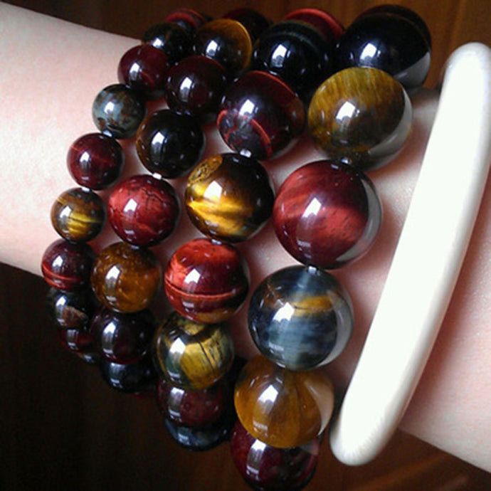 1Pc New Arrival Unique New Tiger Eye Buddha Bracelets Trendy Natural Stone Jewelry for Women Men Gifts 4 Sizes