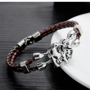 AZIZ BEKKAOUI Unique Bracelets for Women and Men Stainless Steel Leather Bracelet Animal Friendship Jewelry Gift