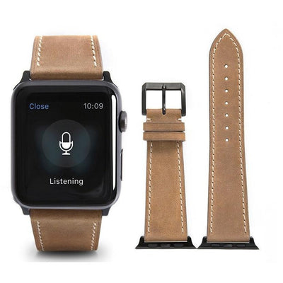 Desert French Calf Leather Apple Watch Band