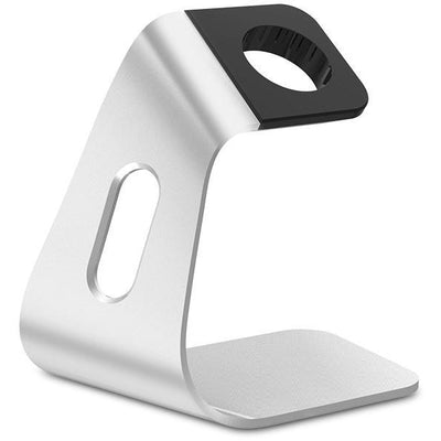 Apple Watch Stand - Silver Aluminium - OzStraps New Zealand