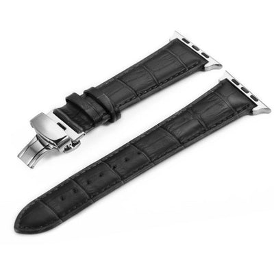 Italian Calf Leather Deployant Clasp Apple Watch Bands - OzStraps New Zealand