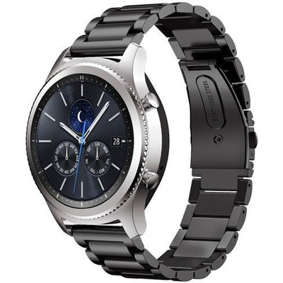 Black Stainless Steel Samsung Gear S3 Band - OzStraps New Zealand