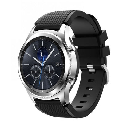Black Silicone Samsung Gear S3 Band - OzStraps New Zealand