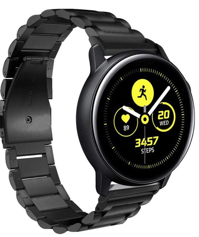 Classic Stainless Steel Samsung Galaxy Watch Active Band - OzStraps New Zealand