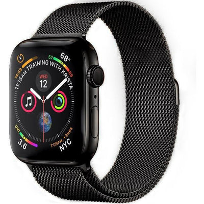 Black Milanese Loop Apple Watch Band - OzStraps New Zealand