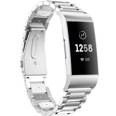 Classic Stainless Steel Fitbit Charge 3 / Charge 4 Bands