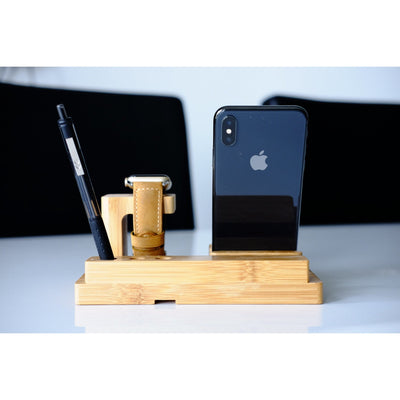 Apple Watch Stand - Bamboo Advanced - OzStraps New Zealand