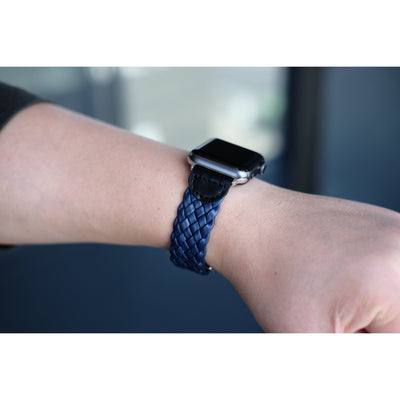 PU Leather Weave Apple Watch Band - OzStraps New Zealand