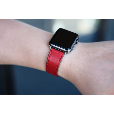 Square Buckle Leather Apple Watch Band - OzStraps New Zealand