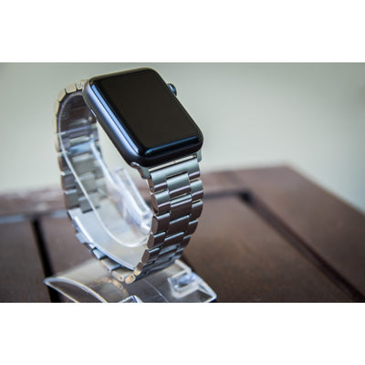 Silver Classic Stainless Steel Apple Watch Band
