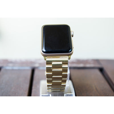 Gold Classic Stainless Steel Apple Watch Band - OzStraps New Zealand