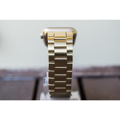 Gold Classic Stainless Steel Apple Watch Band - OzStraps ?id=18187497093