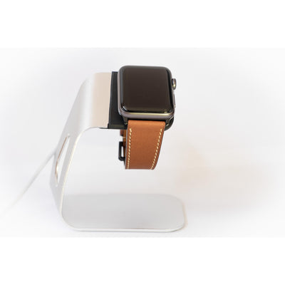 Coffee French Calf Leather Apple Watch Band - OzStraps New Zealand
