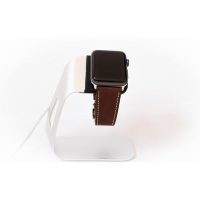 Dark Brown French Calf Leather Apple Watch Band - OzStraps New Zealand