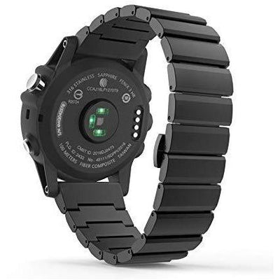 Black Ceramic Stainless Steel Garmin Fenix 3/HR Band - OzStraps New Zealand