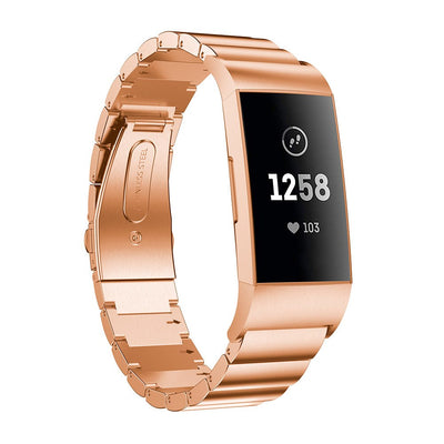 Ceramic Stainless Steel Fitbit Charge 3 / Charge 4 Bands