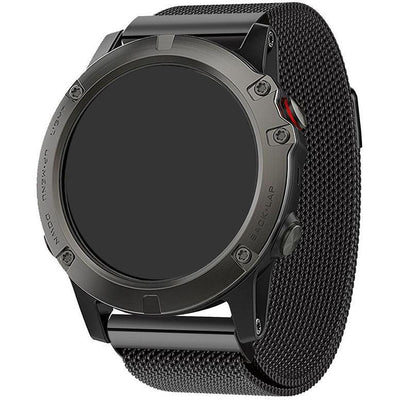 Black Milanese Loop Garmin Fenix 5X / Fenix 6X Band - OzStraps New Zealand