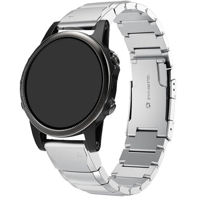Silver Ceramic Stainless Steel Garmin Fenix 5S Band - OzStraps New Zealand
