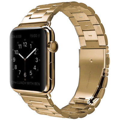 Gold Classic Stainless Steel Apple Watch Band - OzStraps ?id=4878877032499