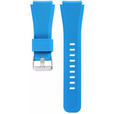 Light Blue Silicone Samsung Gear S3 Band - OzStraps