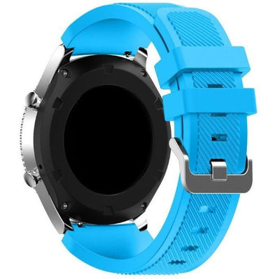 Light Blue Silicone Samsung Gear S3 Band - OzStraps New Zealand