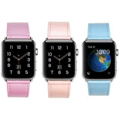 Pastel Leather Apple Watch Band - OzStraps New Zealand