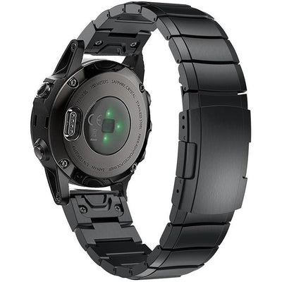 Black Ceramic Stainless Steel Garmin Fenix 5S Band - OzStraps New Zealand