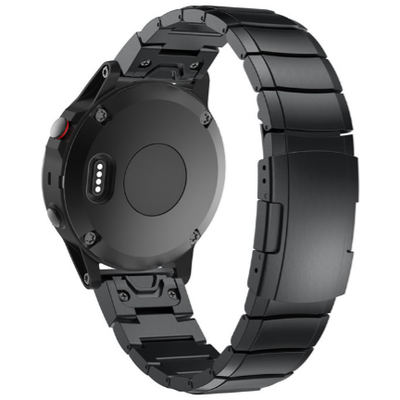Black Ceramic Stainless Steel Garmin Fenix 5 Band - OzStraps New Zealand